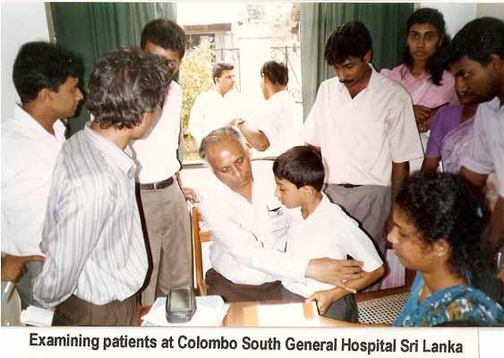 Examining patients at Colombo