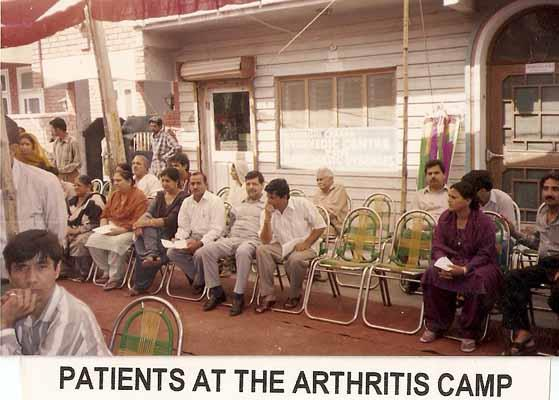 Patients at the Arthritis Camp