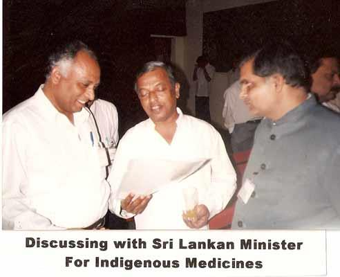 With Srilankan Ministers