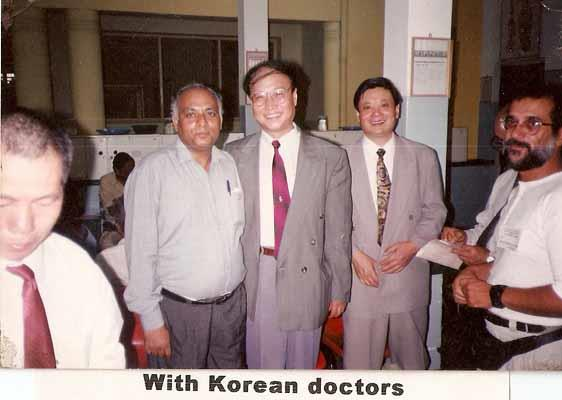 Dr Virender with Korean doctors
